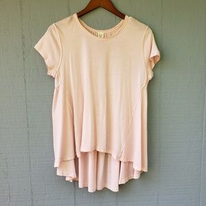 We the Free People Ruffle Back Oversize Tee Small